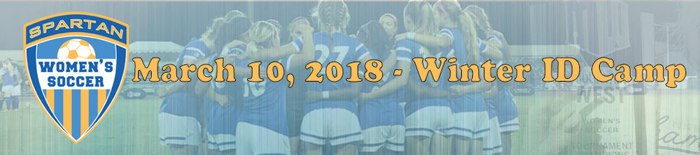 Date: March 10, 2018   Time:  9:00 AM - 3:00 PM   Location:  Spartan Soccer Field @ SJSU   Cost: $150 (Includes T-Shirt)  Team Discount 10 or more players at 30%   Team Discount 5-9 players at 20%  *For team discounts, please contact Tina Estrada directly (christina.estrada@sjsu.edu)*  The  Spartan Women's Soccer ID Camps are for  players in grades 8 and above who have goals and aspirations to play collegiate soccer.  The camp is designed to: - Identify Future College Players - Train and teach potential players the demands of competing at the NCAA level through replicate collegiate level training sessions - Expose players to a coaching staff that has 3 National Championships amongst them  The Spartan Women's Soccer ID Camp features the entire staff of the SJSU Women's Soccer Team and potentially other college staff and club coaches. This one-day event is designed for advanced player development and exposure to the top college coaches. The camp is an ideal setting for players who have aspirations of playing collegiate soccer at all levels of the game.  During the camp, we will work on technical and tactical aspects of the game in the morning as well as playing small sided (to accommodate current high school students)and full 11 v 11 games in afternoon. Between sessions, players will have an opportunity to speak with SJSU staff and players to ask questions they may have.   Per NCAA Bylaw 13.4.3.2.2, an institution, may advertise or promote a camp/clinic toward a particular audience (e.g. elite camp), provided the advertisement or promotion indicates that the camp/clinic is open to any and all entrants (limited only by number, age, grade lever and/or gender).    Schedule (tentative):   8:30am - Check-in 9:00am to 11:00am - Morning session (technical and small sided) 11:00am to 12:00pm - Lunch 12:00pm to 12:45pm - Education session (compliance and collegiate soccer) 1:00pm to 2:45pm - Afternoon session (small sided & 11 vs 11) 2:45pm to 3:00pm - Wrap up camp   What to B