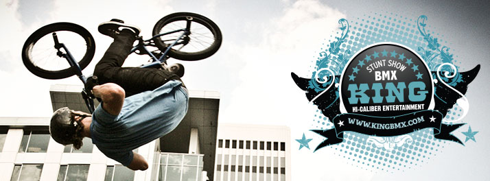 King BMX Stunt Shows is a full service BMX entertainment company, and one of the top stunt shows in the nations.  Clients range from NBA, WNBA, NFL, NASCAR, IRL, state fairs, small town festivals, colleges and high schools, aw well as shopping malls, churches and company events.  King BMX Stunt Shows will have 3 performances on Saturday May 19th, along Musgrove Street.