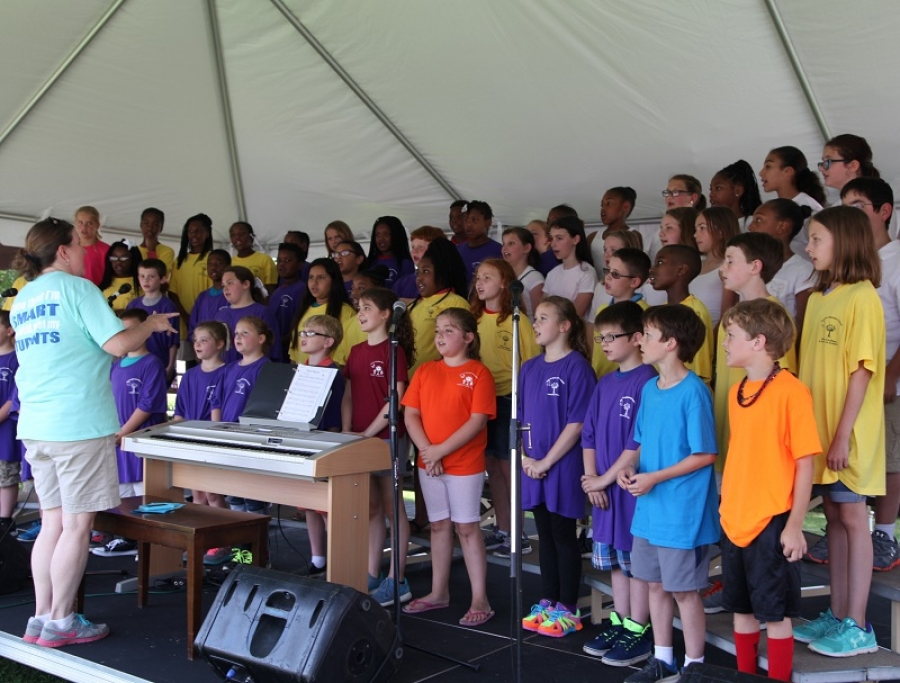 School District 56 Pan Jammers and Choir performing 10 Am on the Depot Stage