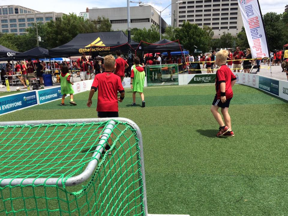 - Dragon Goal is a portable soccer pitch