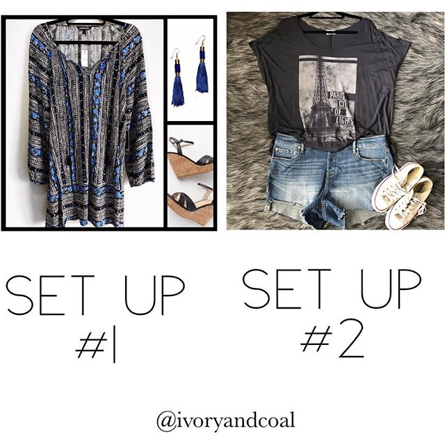 I'm trying to curate the best #poshmarkcloset , which set up so you prefer?  #1 or #2  Please comment below!  #poll #vote #poshmark #fashion #fashionstylist #poshmarkseller #lookbook #style #pleasecommentback