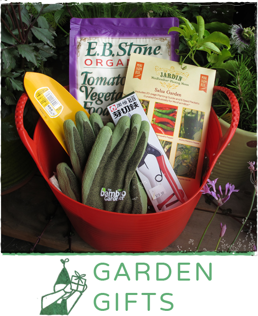 Check out our gift certificates and great garden gift ideas here.
