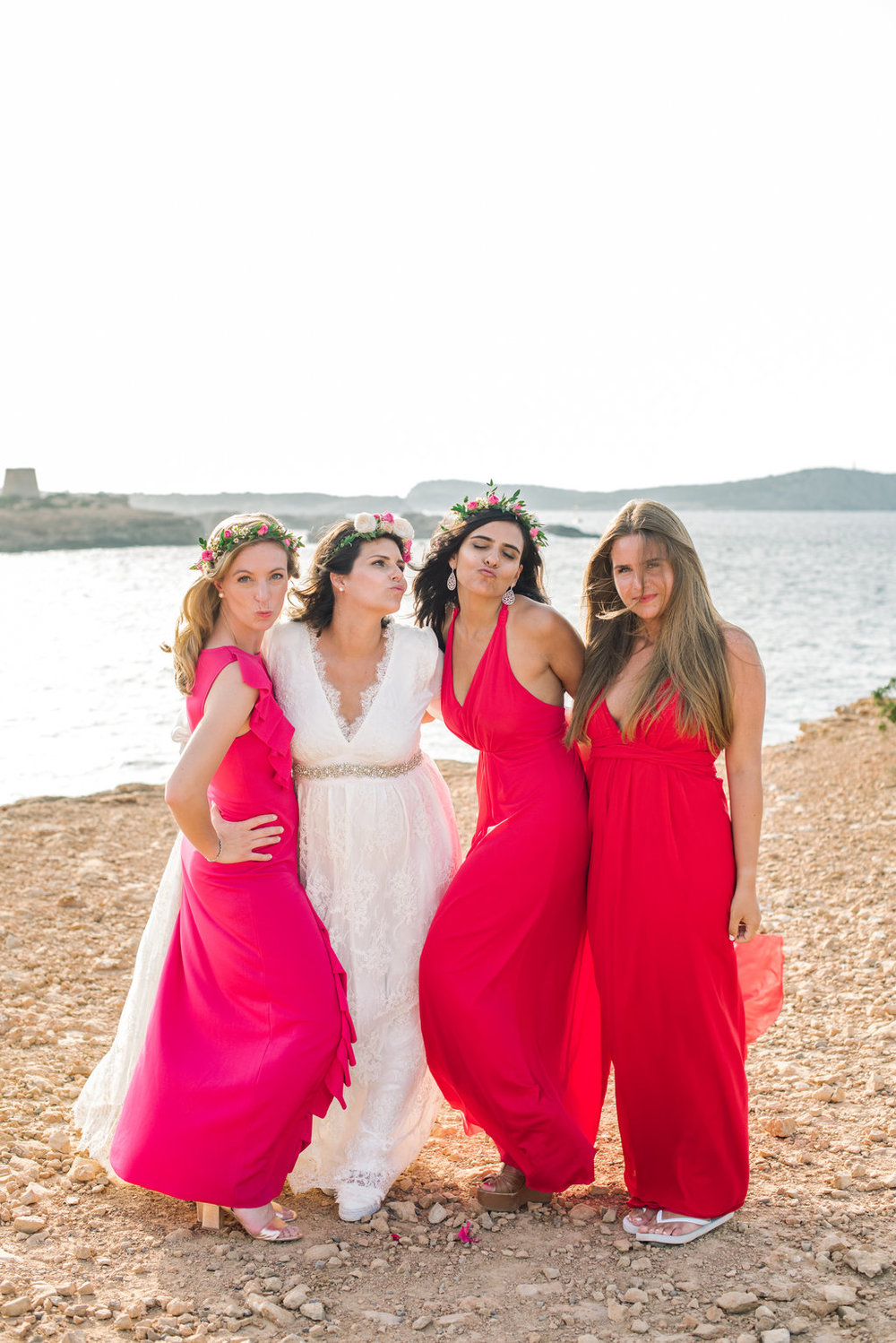 bridesmaids, wedding inspiration, ibiza