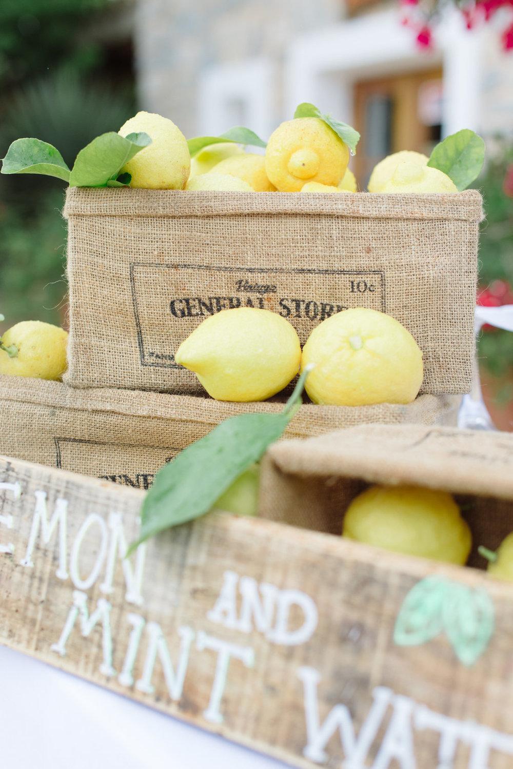lemons, wedding drinks, ibiza wedding