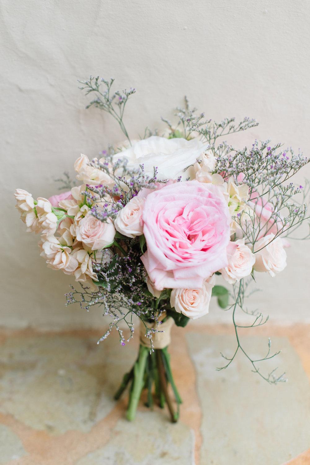 ibiza wedding bouquet, peonies