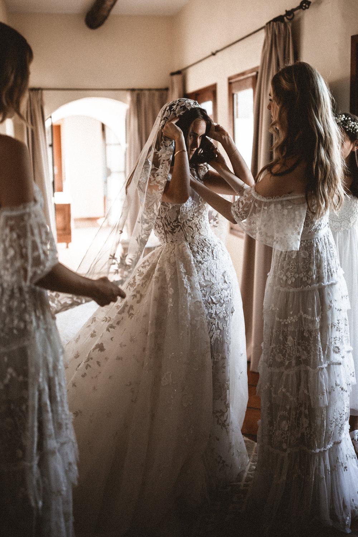 zuhair mural wedding dress, ibiza wedding