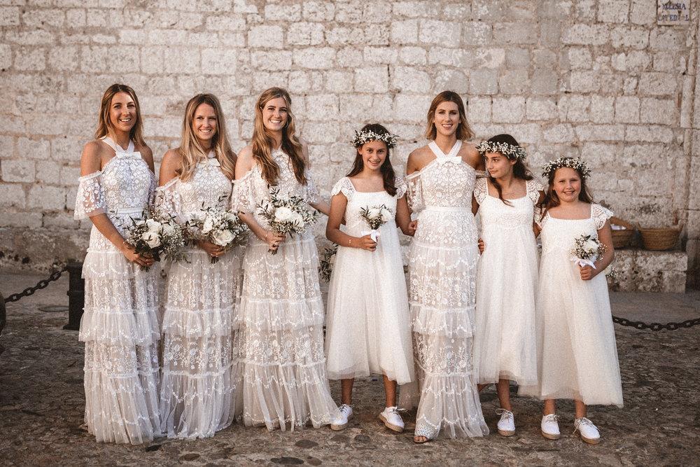 bridesmaids inspiration, needle and thread, ibiza, london