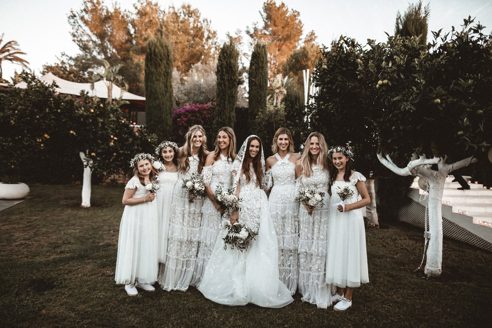 bridal party, ibiza wedding planner