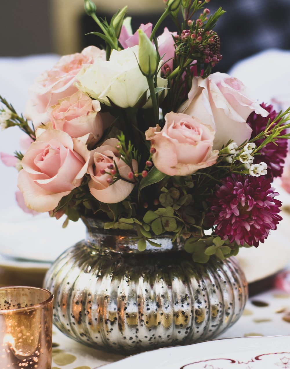 Rose Yellow Gold Surprise 30th Birthday Party Styling Feast