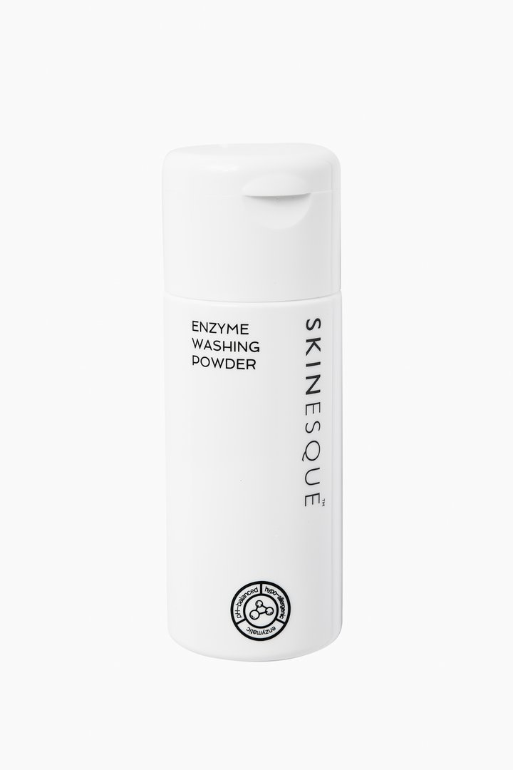 Enzyme Washing Powder $30 - I can't get enough of this cleanser; because of the powder form, packing is effortless. I've used other powder cleansers before and haven't been impressed, but what I like about this Enzyme Washing Cleanser by Skinesque is that the perfect amount of powder comes out of the bottle. With other powder cleansers, I've had to measure the powder out of a pot; and with this cleanser I receive the correct proportion with a shake of the bottle in the palm of my hand, just add water and lather up! My complexion has cleared up and given way to smoother, more radiant skin. Get yours here.