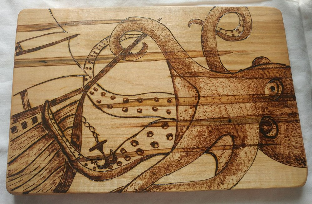 Woodburned items