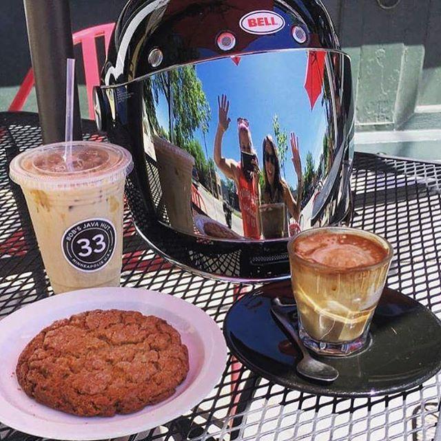 #womenmotorcyclist #friendsandmotorcycles #bobsjavahut #mplscoffeeshops #uptowncoffee #coffeeaddict #coffeelover #33