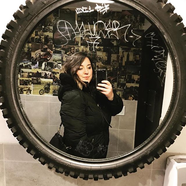 Where's your #tiremirrorselfie ?#picturemural #bobsjavahut #bobsregulars #mplscoffee #uptowncoffee #coffeelover #coffeeadict