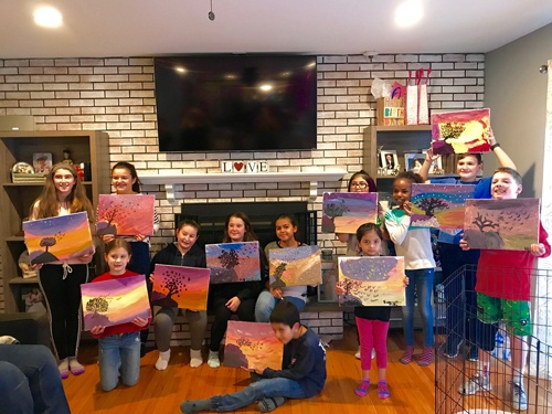 Sarah's Art Studio - Westchester and Putnam - Art Parties & Lessons  - Birthday Party Group Shot.jpg