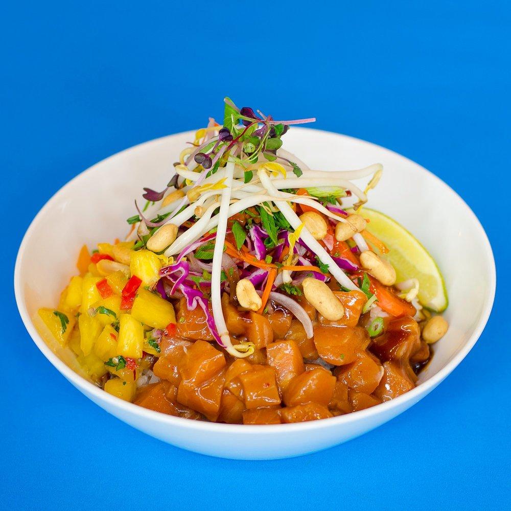 Spicy Thai Salmon Poke