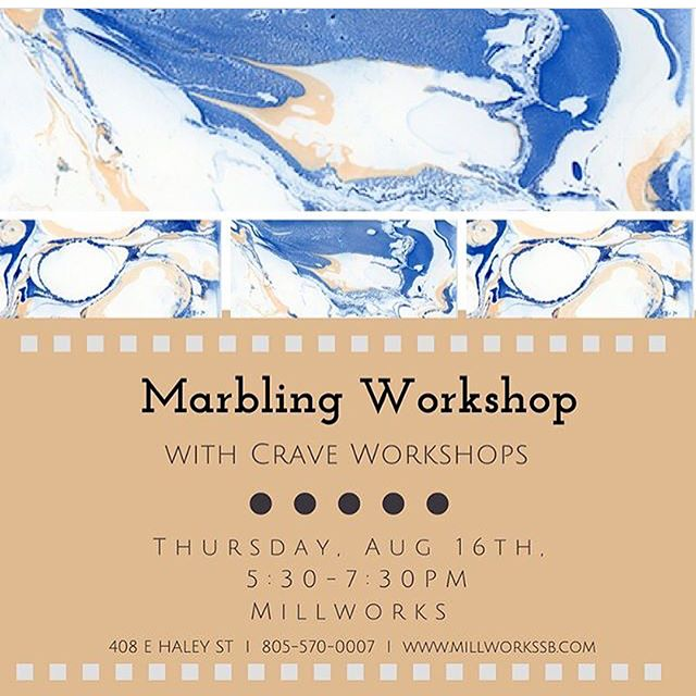 || TONIGHT || There are still a few spots left, so DON'T MISS OUT!! Find the registration link in our bio! . . . . . . #millworkssb #sbmillworks #themillsb #santabarbara #craveworkshops #santabarbaraworkshop #millworksworkshop