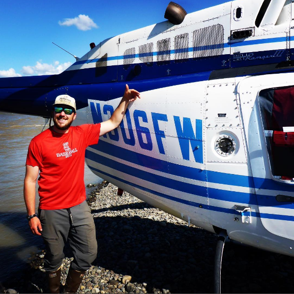 "The Original ""SixFoxWhiskey"" helicopter on the Alaskan Peninsula"