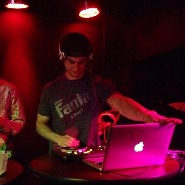 Veck DJing in Downtown Richmond
