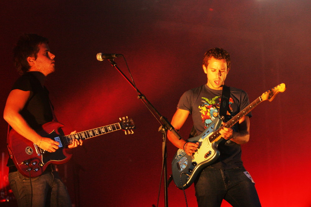 Anthony Gonzalez and Pierre Maulini in 2008 (photo: Rama)