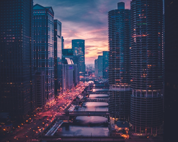 Golden Hour - Chicago (@maxwbender)