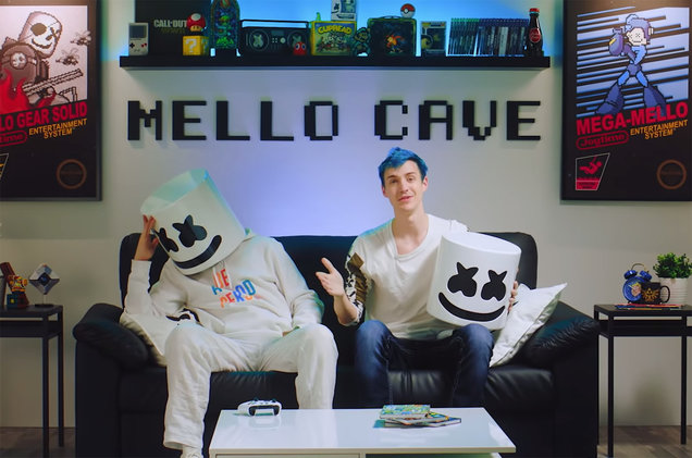 Marshmello and popular Fortnite streamer NInja (@billboard)