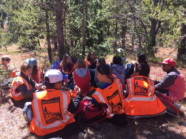 Aspen Middle Schoolers taking a well-earned lunch break