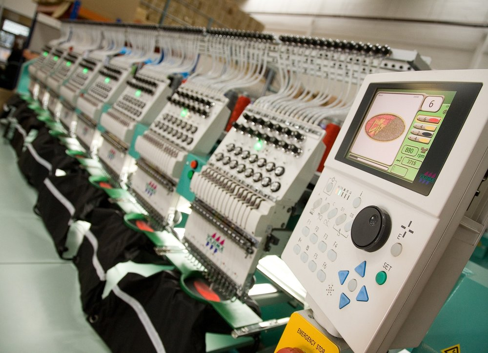 6-Head Embroidery Machine