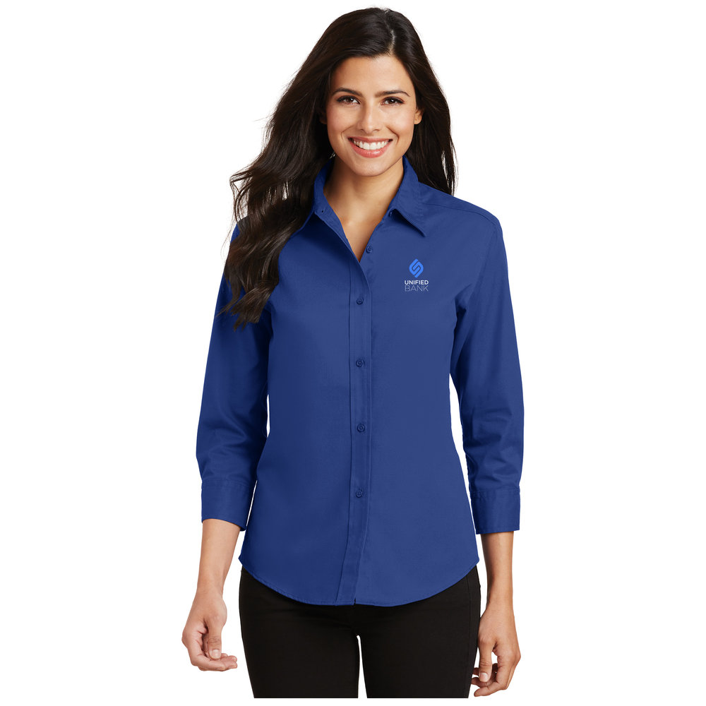 Ladies Royal 3/4 Sleeve Oxford