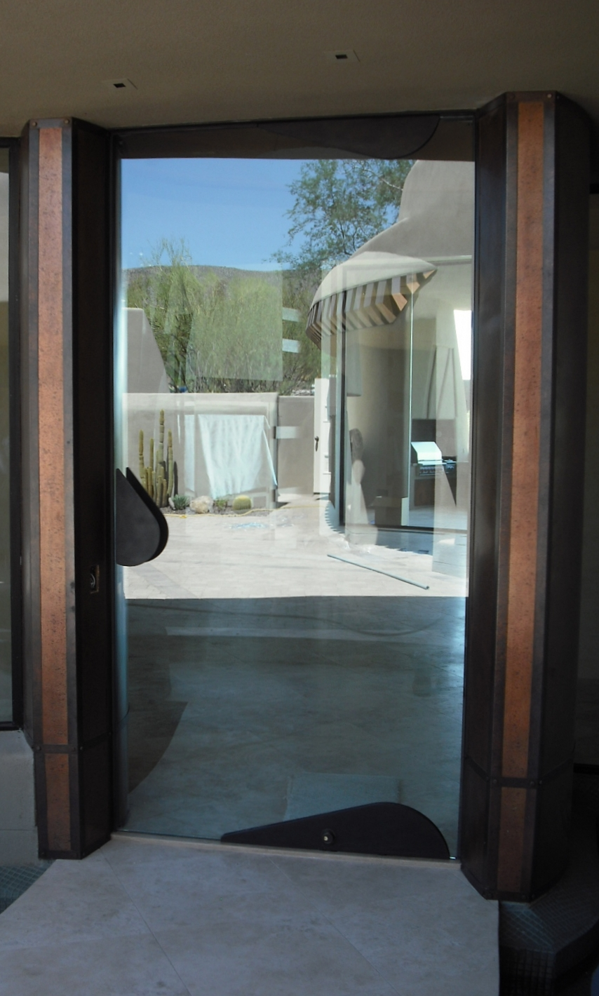 CONTEMPORARY STEEL AND GLASS DOOR 16