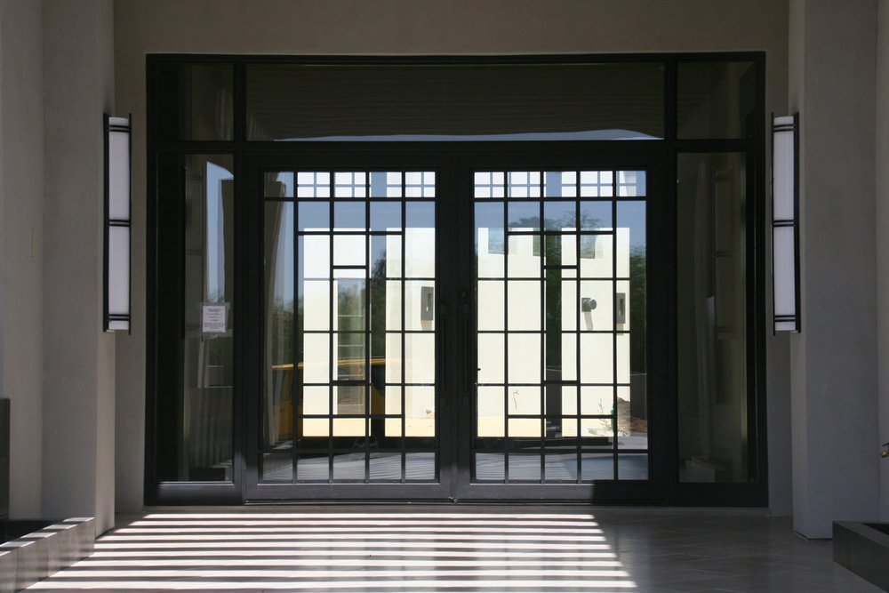 CONTEMPORARY STEEL AND GLASS DOOR 23