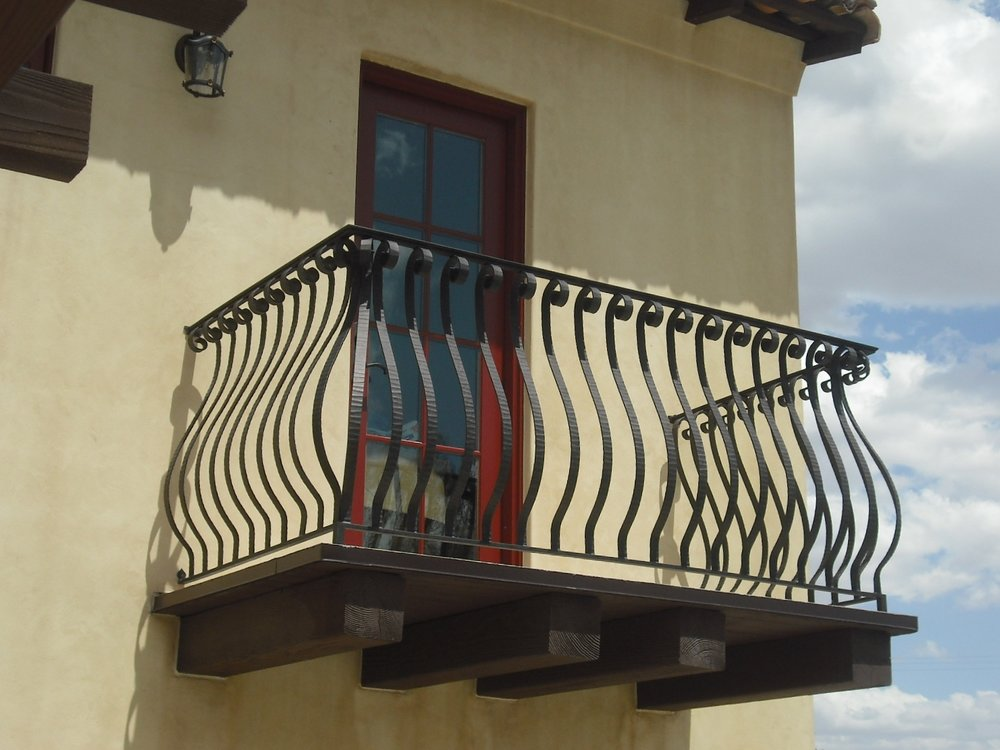 OLD WORLD IRON RAILING 12