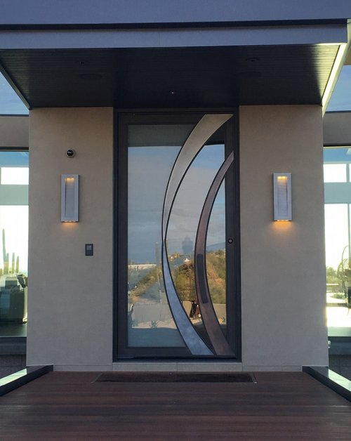 STEEL AND GLASS PIVOT DOOR 10
