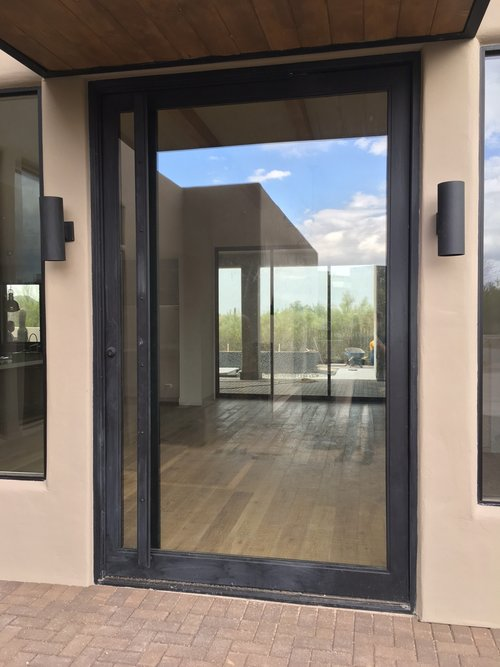 STEEL AND GLASS PIVOT DOOR 9