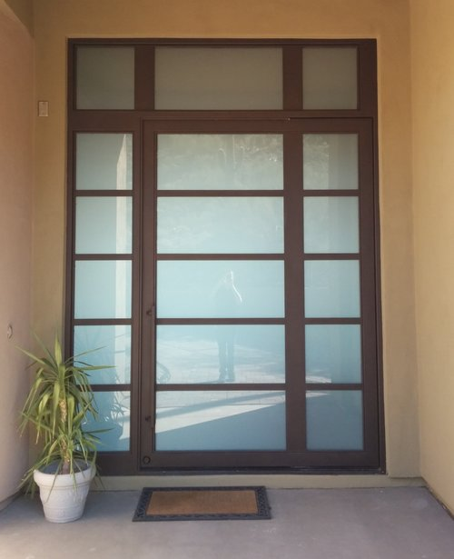 CONTEMPORARY STEEL AND GLASS DOOR 17