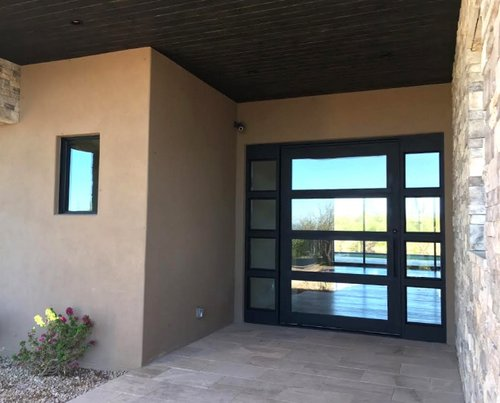 STEEL AND GLASS PIVOT DOOR 20