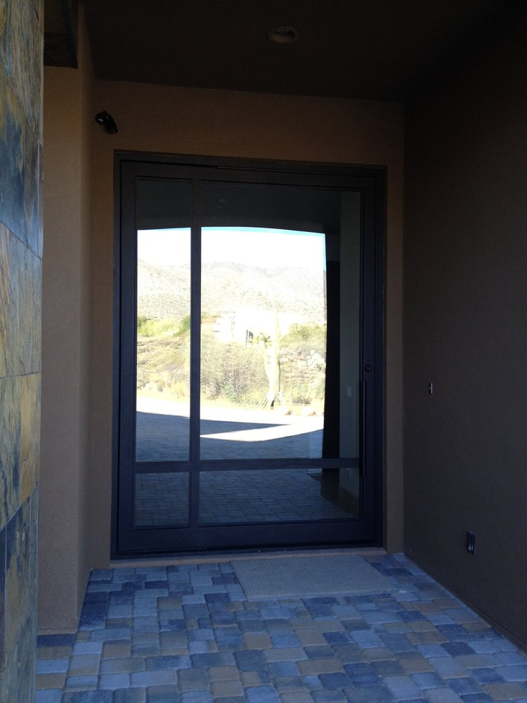 STEEL AND GLASS PIVOT DOOR 18