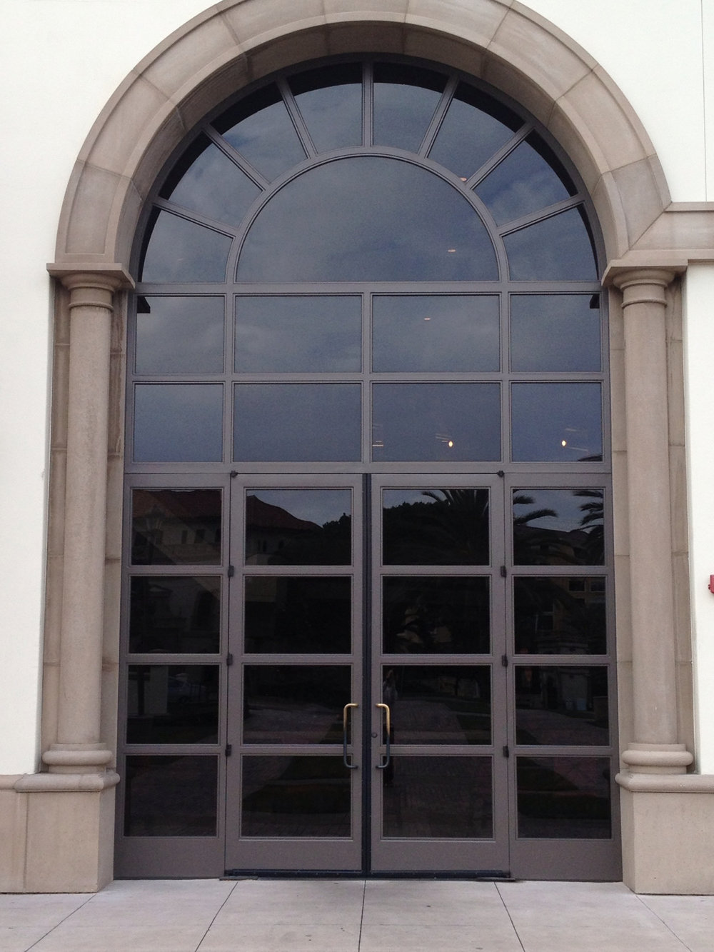COMMERCIAL IRON AND GLASS DOOR 8