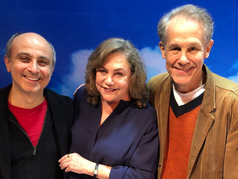 Stephen DeRosa, Kathleen Turner, and Jim Walton
