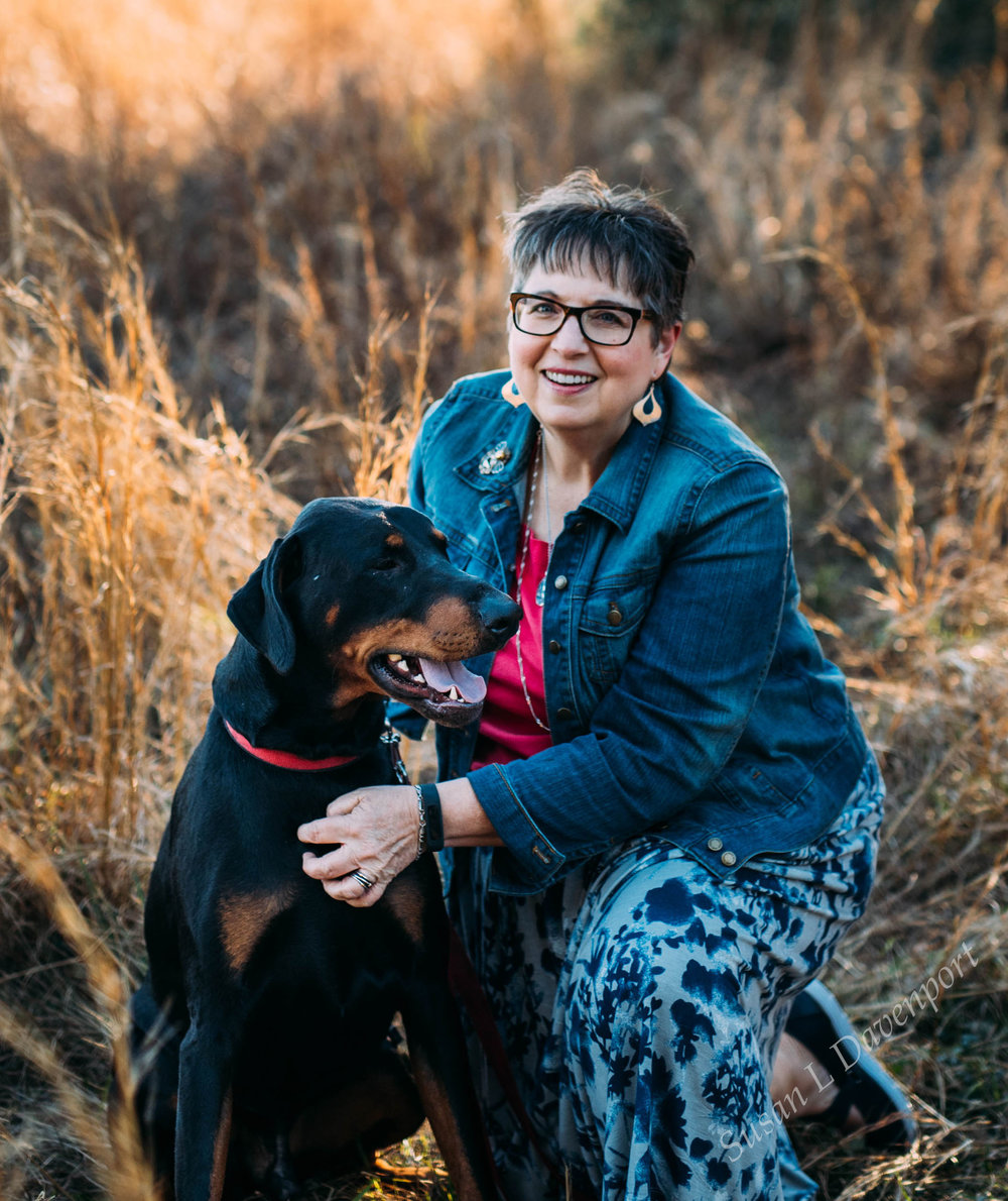 My current dog, Toby, and me. - Photo by Smooch Photography