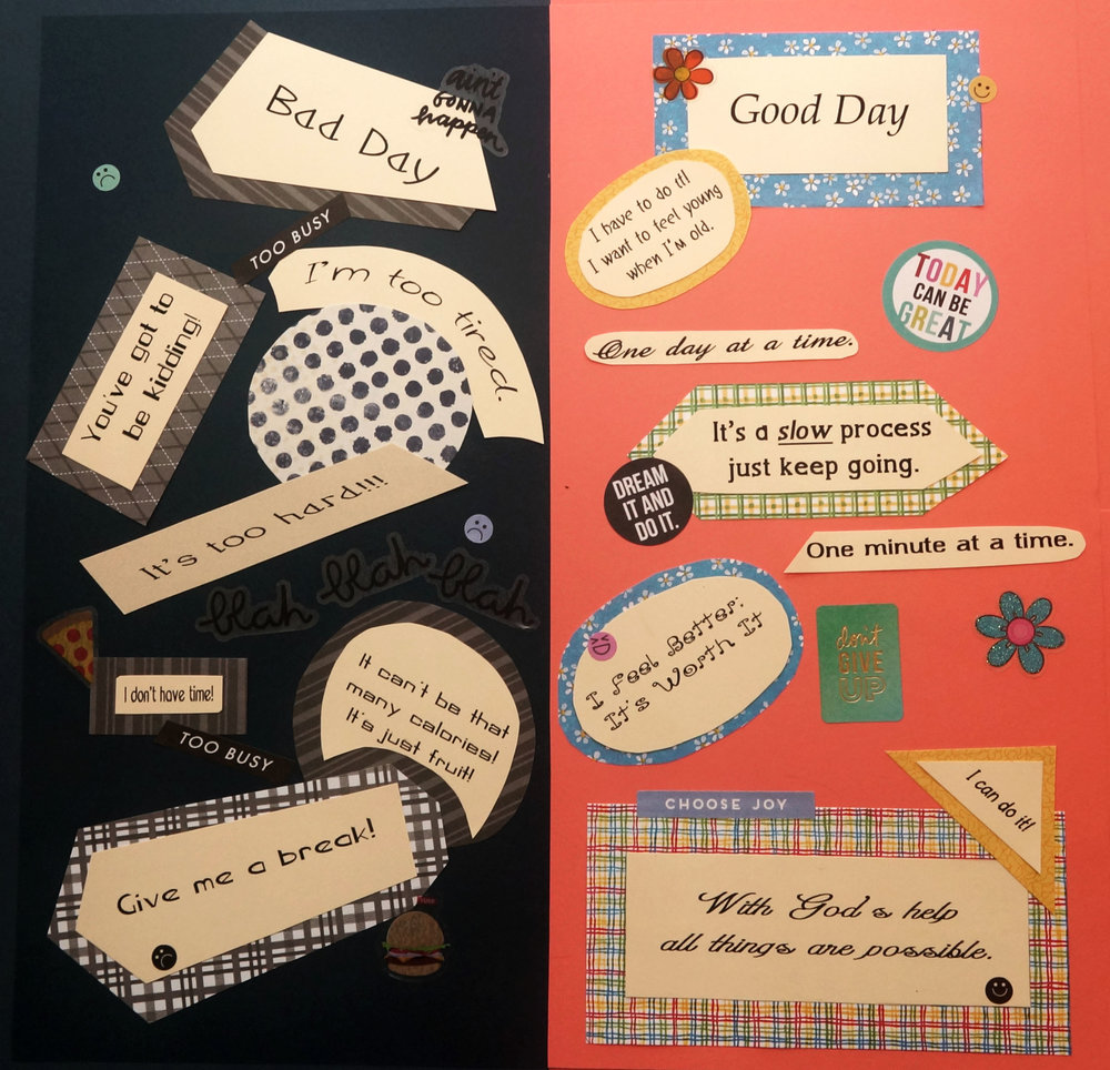 Bad Day / Good Day  -  Graphics by Susan L. Davenport