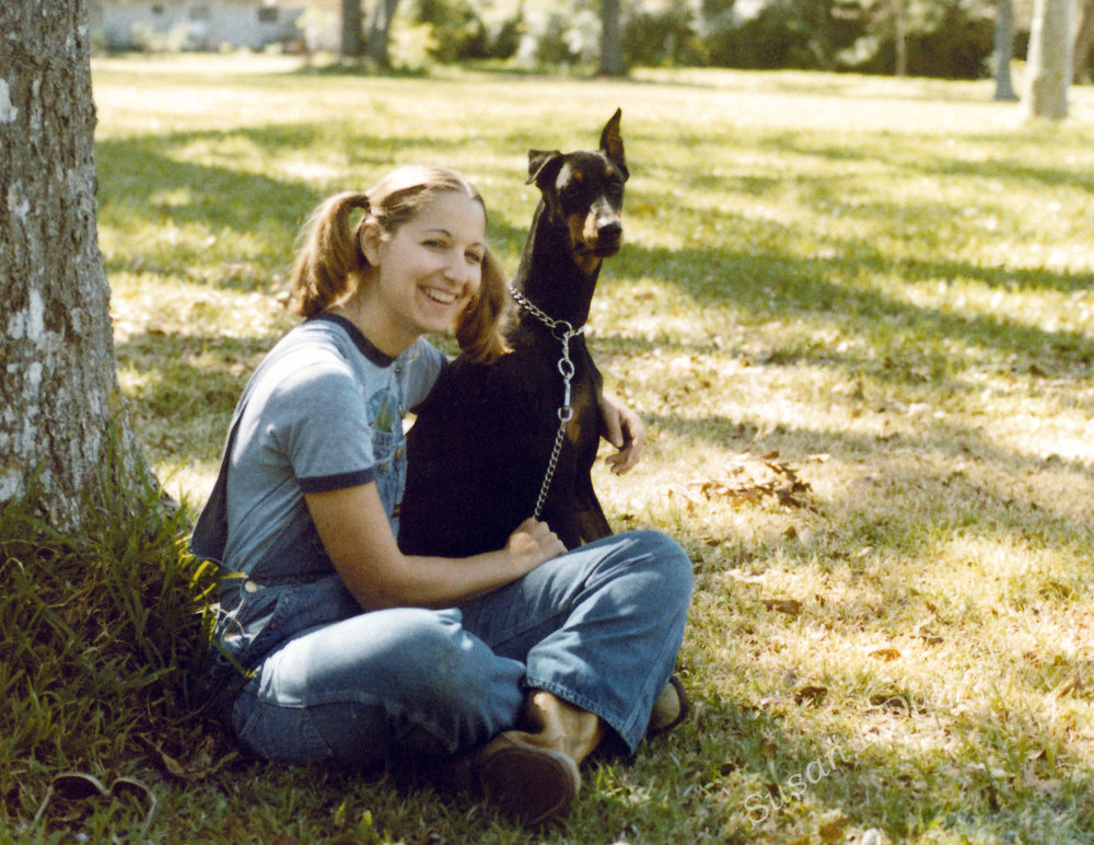 A younger me with my dog Jolie - Photo by Susan L. Davenport
