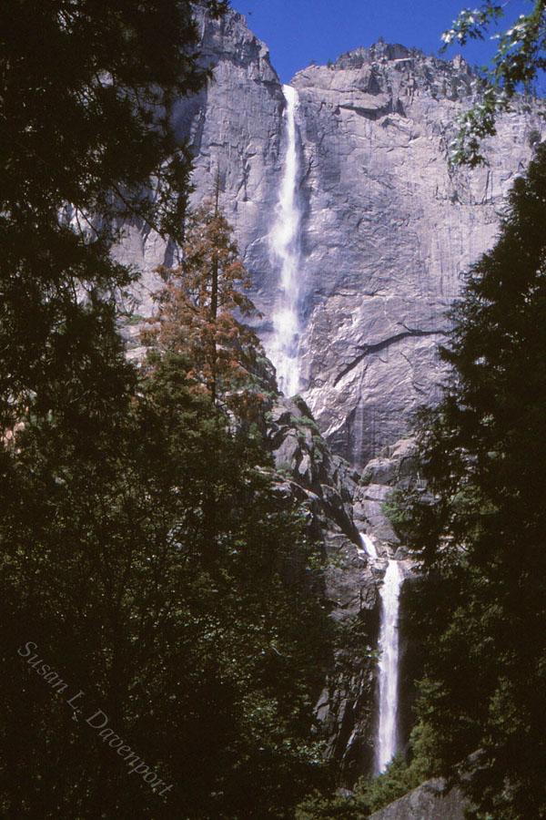 Yosemite double falls - photo by susan l. davenport