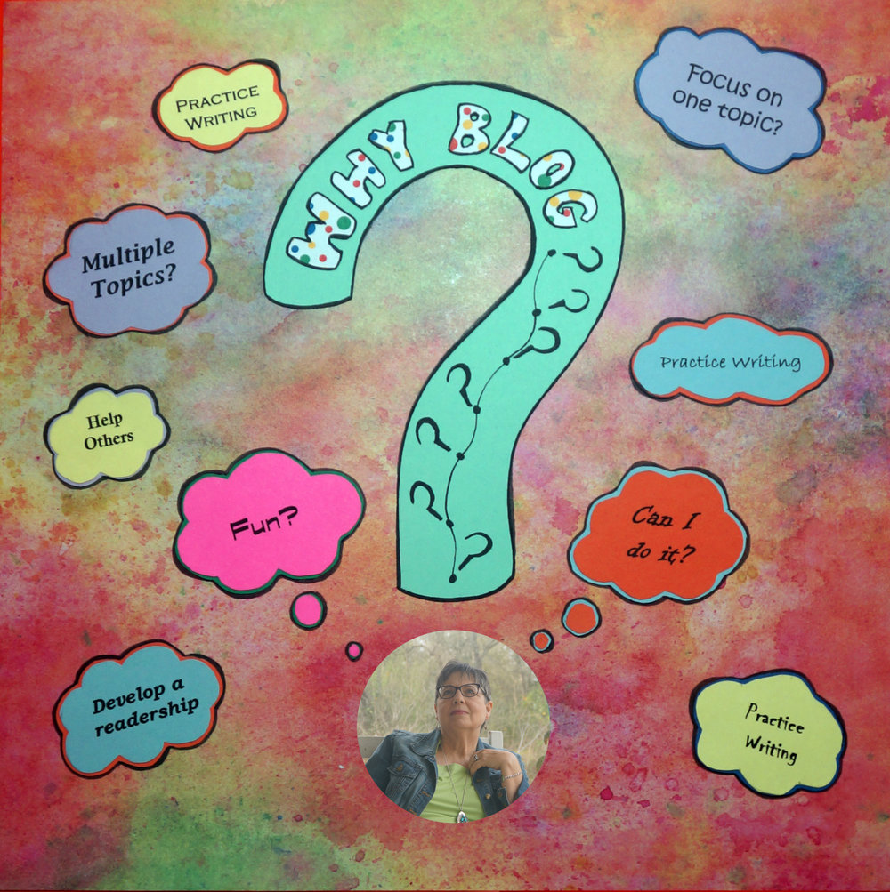 Why Blog?  - Graphic by Susan l. Davenport