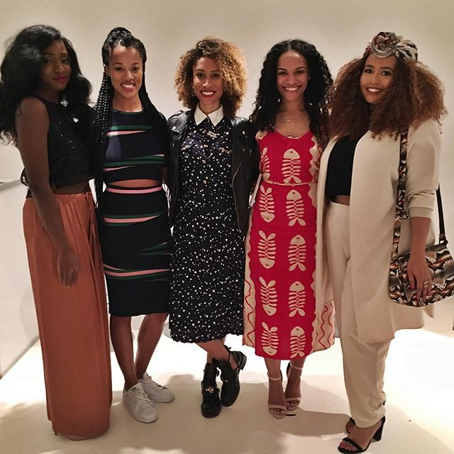 Ofunne Amaka CEO of Cocoa Swatches, Lauren Ash Founder of Black girl in Om, Elaine Welteroth EIC of Teen Vogue, Francheska Founder of Hey Fran Hey, Gabi Fresh  Influencer and model.