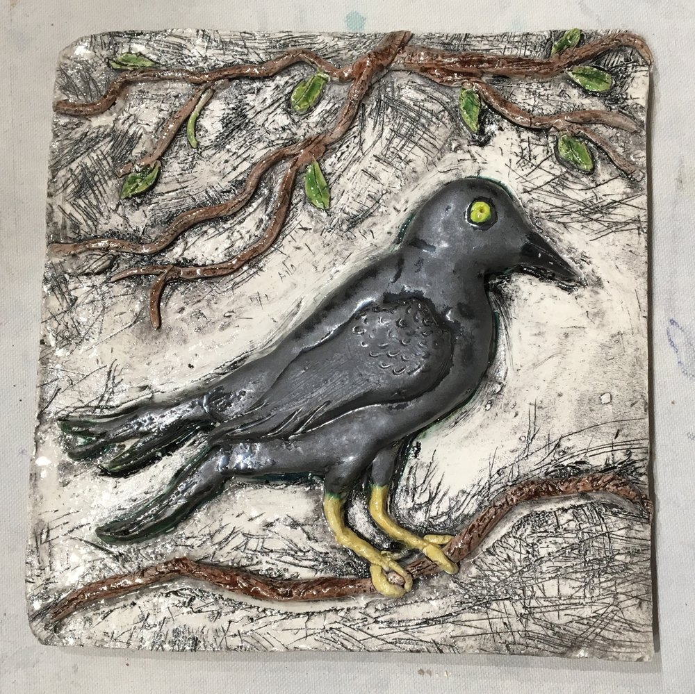 Raven Tile by Anniece Kiersky