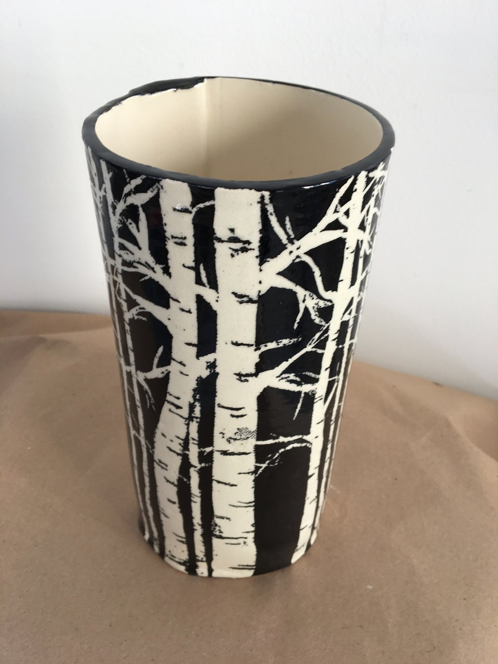Wax Resist Vase by Cheryl Decker