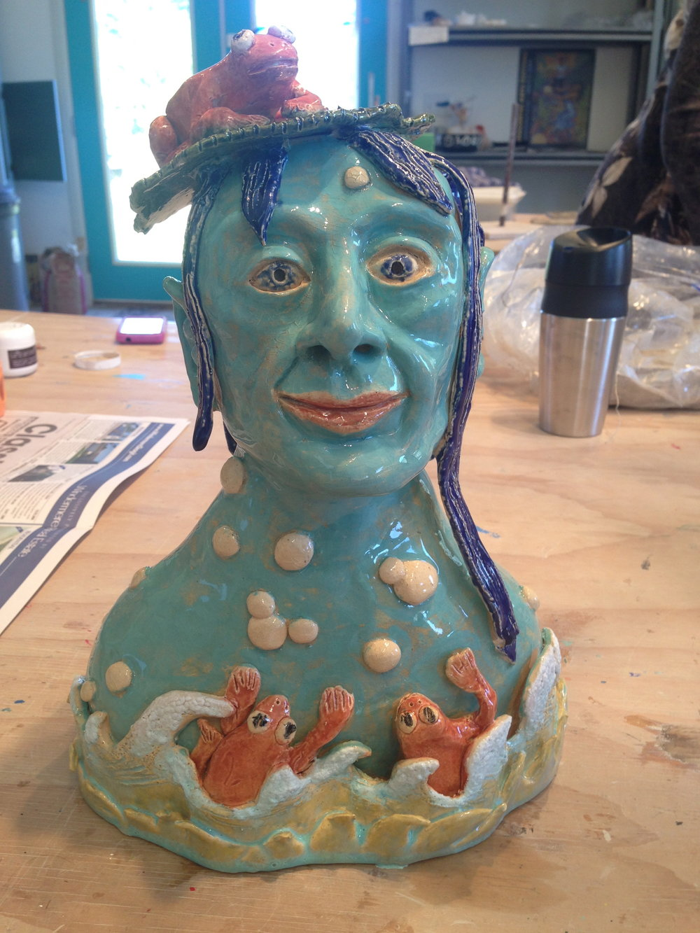 Ceramic Bust by Caroline Garland