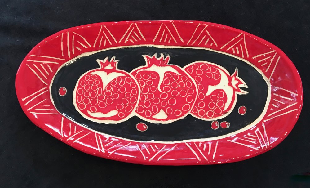 Sgrafitto Platter by Lisa Jackson