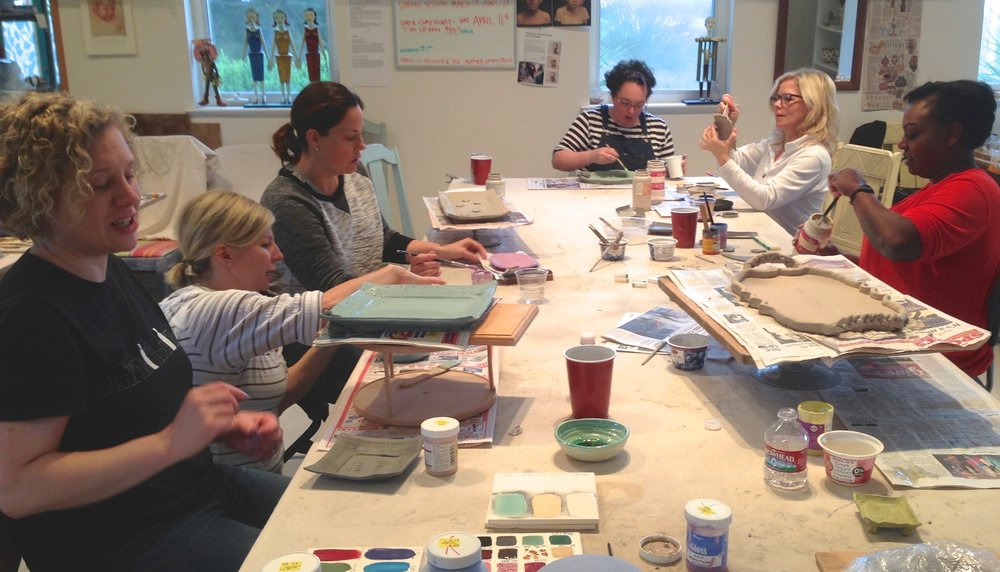 Girls Week-end 4 hour Clay Workshop
