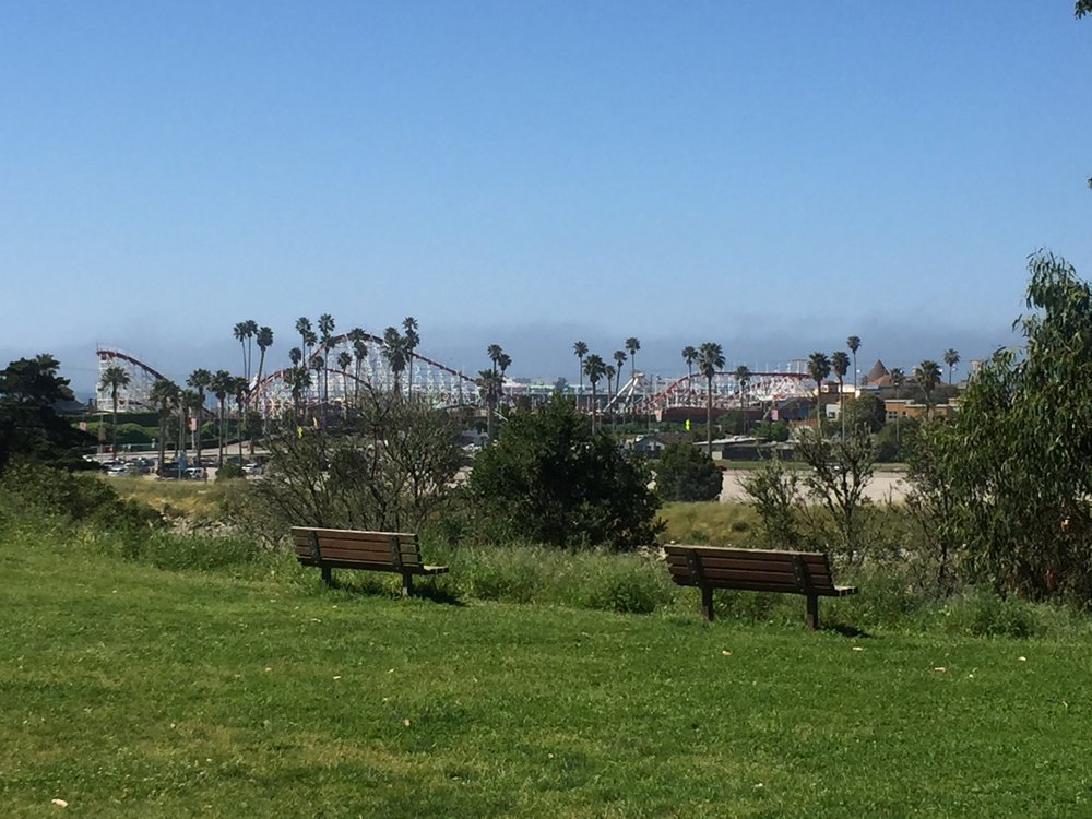 Take in the relaxing views and screams from the Santa Cruz Beach Boardwalk and the Big Dipper Roller Coaster.
